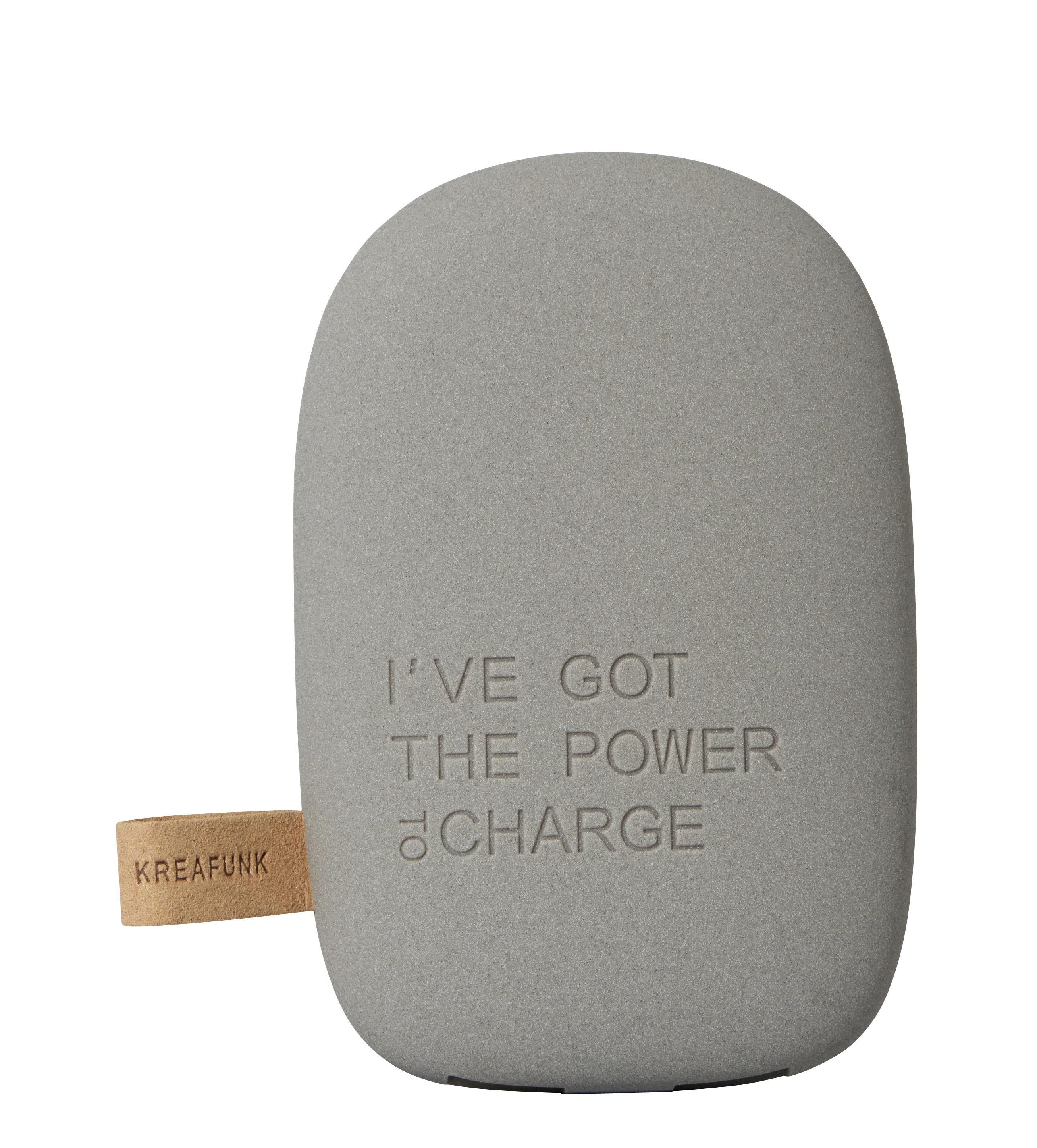 Accessoires - Objets connectés, accessoires high tech - Batterie de secours toCharge / Portable - iPhone & smartphone - Kreafunk - Gris foncé - Matière plastique
