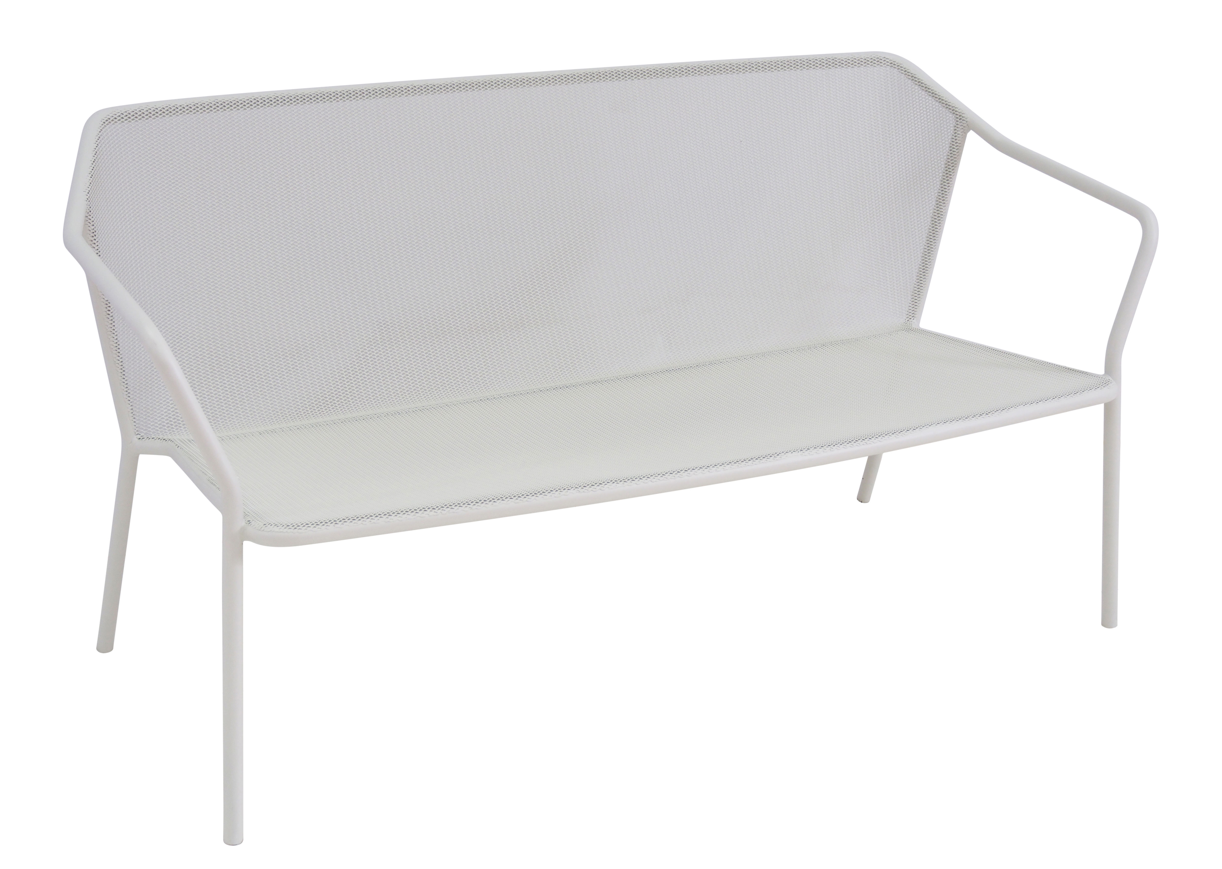 Darwin bench metal l 140 cm matt white by emu made