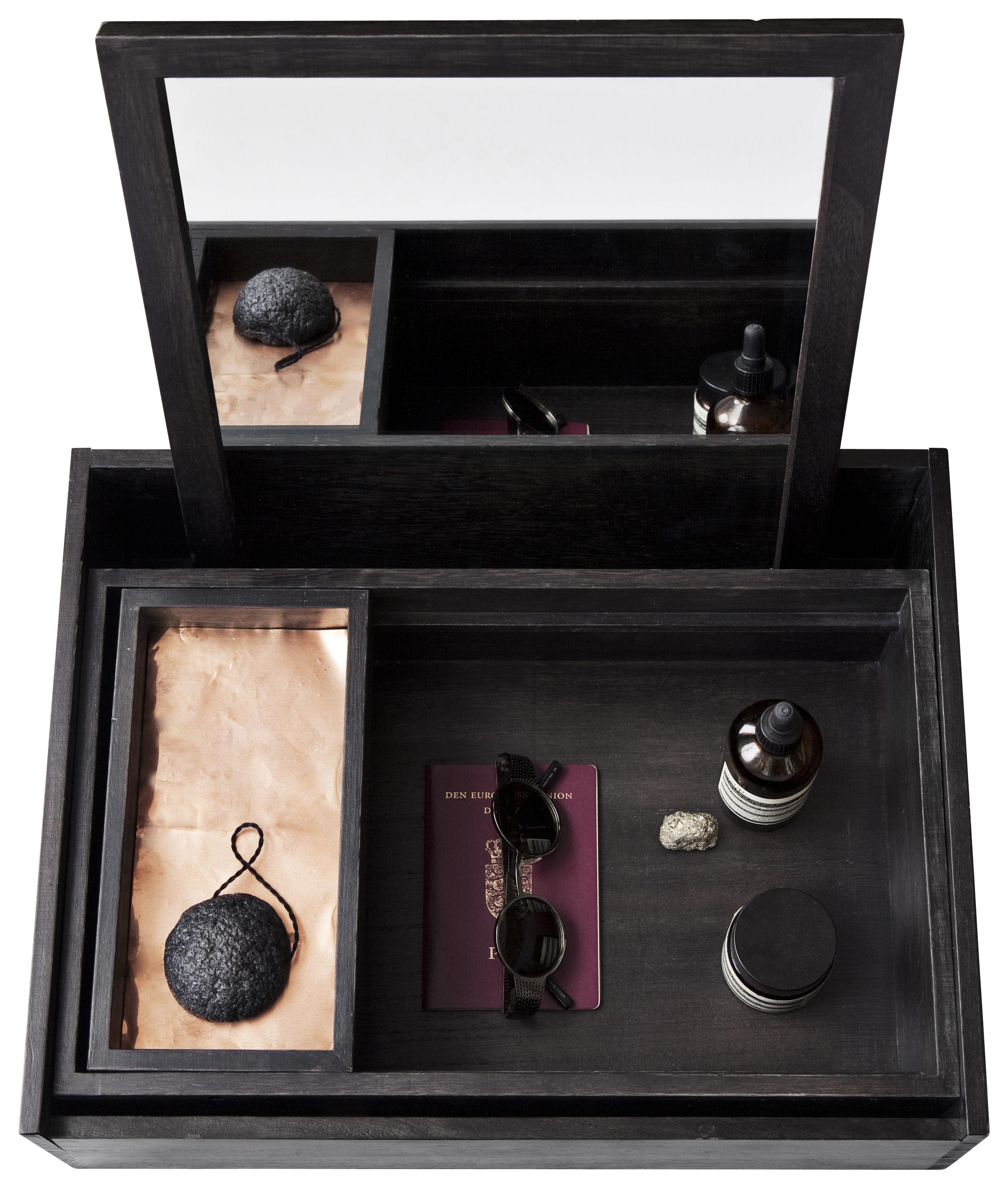Accessoires - Accessoires salle de bains - Boîte à bijoux Balsabox Personal / Coiffeuse - 42 x 32 cm - Nomess - Noir - Bois de balsa
