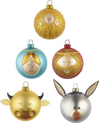 Déco - Objets déco et cadres-photos - Boule de Noël / Set de 5 : la Nativité - A di Alessi - Multicolore - Verre soufflé
