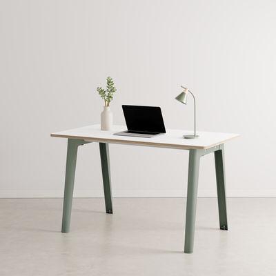 Bureau New Modern / 130 x 70 cm - Stratifié - TIPTOE gris en métal/bois