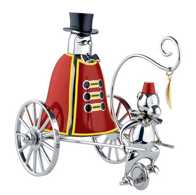 Tableware - Kitchen Accessories - Ringleader call bell - Circus - Numbered limited edition by Alessi - Stainless steel & red - Painted stainless steel