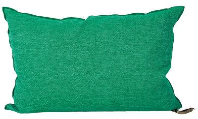 Decoration - Cushions & Poufs - Vice Versa Cushion - 36 x 50 cm by Maison de Vacances - Emerald - Cotton, Duck feathers, Flax