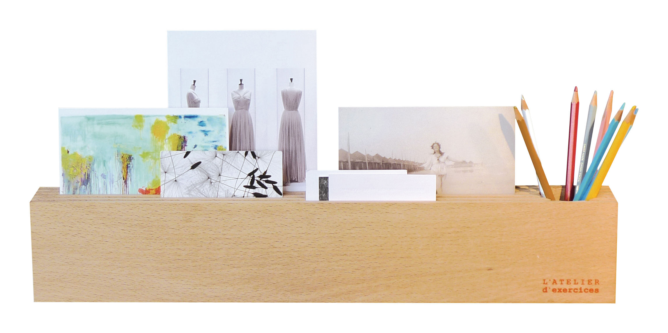 Decoration - Funny & surprising - Desk organizer - L 50 cm by L'atelier d'exercices - Light wood - Natural beechwood