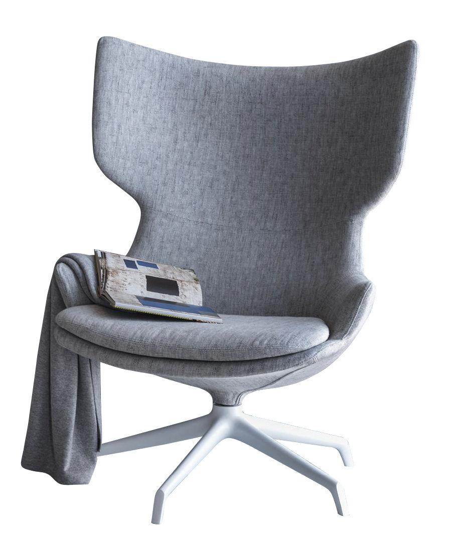 fauteuil pivotant lou speak driade gris chin pied. Black Bedroom Furniture Sets. Home Design Ideas
