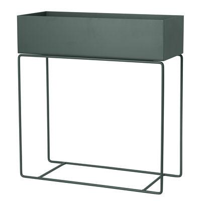 Interni - Vasi e Piante - Fioriera Plant Box - / L 60 x H 65 cm di Ferm Living - Verde scuro - Acciaio laccato epossidico