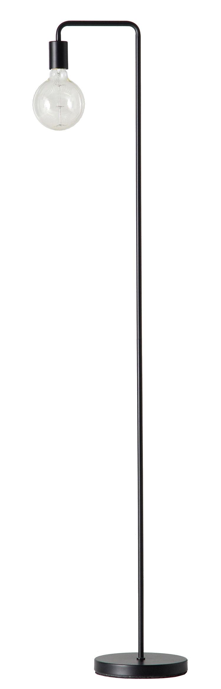 Lighting - Floor lamps - Cool Floor lamp - / H 153 cm by Frandsen - Mat black - Painted metal