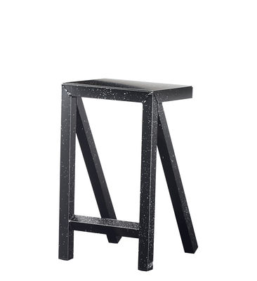 Furniture - Bar Stools - Bureaurama High stool - / H 62 cm - Outdoor by Magis - Black & White - Varnished aluminium