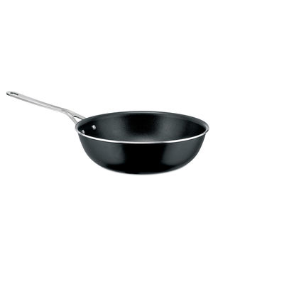 Kitchenware - Pots & Pans - Pots&Pans High stove - / Ø 28 cm - All heat sources including induction by A di Alessi - Black - 100% recycled aluminium, Magnetic steel