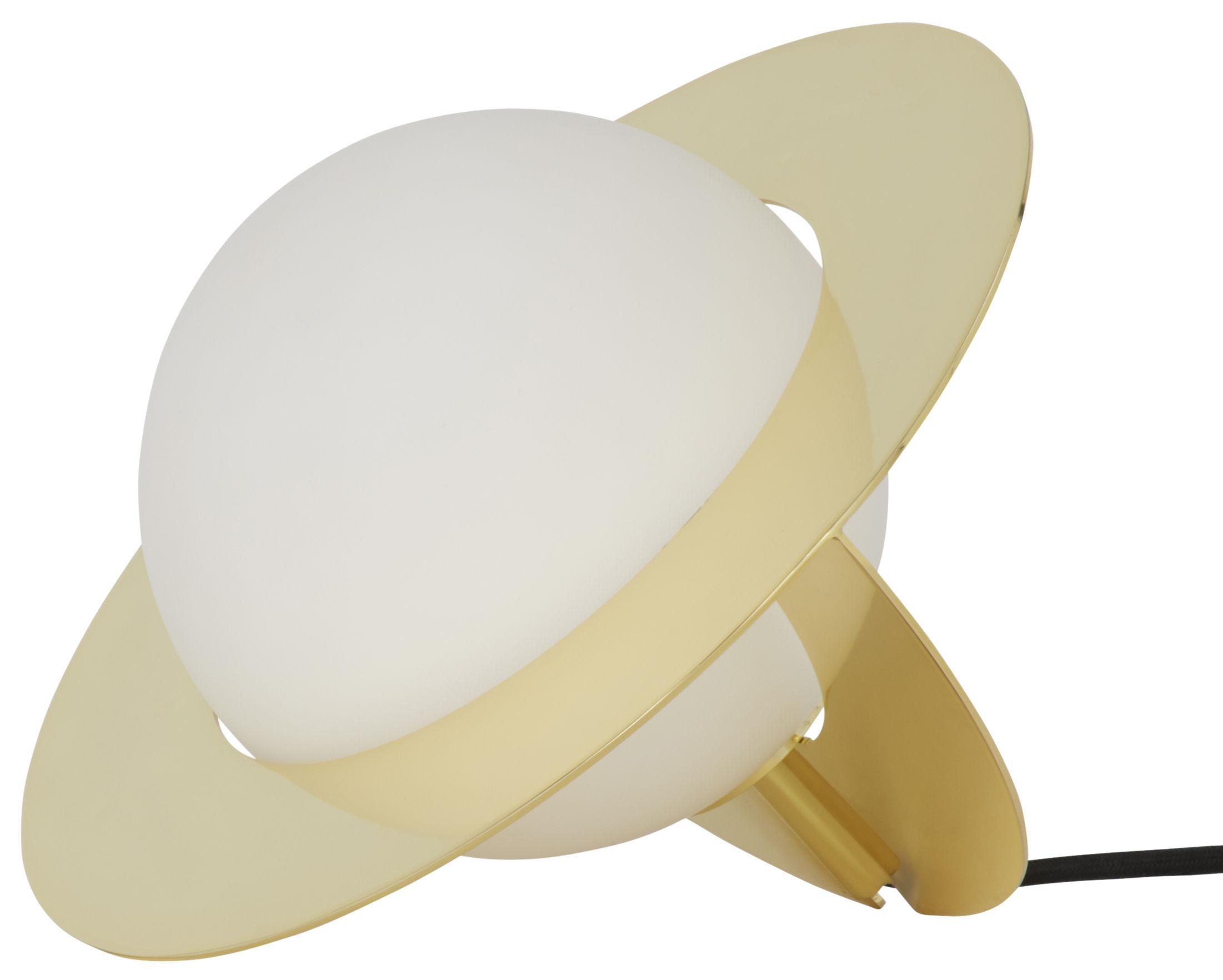 Illuminazione - Lampade da tavolo - Lampada da tavolo Plane di Tom Dixon - Ottone lucidato - Acier plaqué laiton, Vetro
