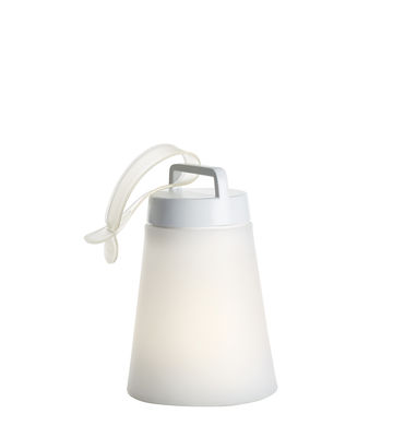 Image of Lampada senza fili Sasha Mini - / LED - H 24,5 cm di Carpyen - Bianco - Materiale plastico