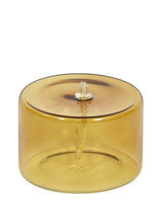 Lampe à huile Olie / Ø 10 x H 6,5 cm - ENOstudio ambre en verre