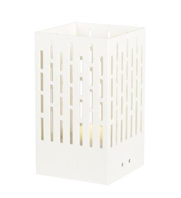 Lampe solaire La Lampe Pose 04 / LED - Hybride & connectée - Maiori blanc en métal