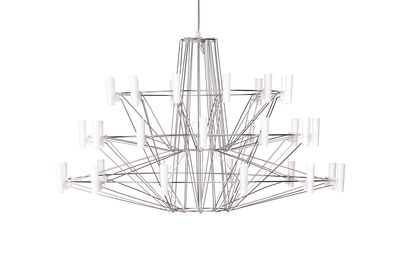 Lighting - Pendant Lighting - Coppélia Small Pendant - / LED - Ø 68 x H 42 cm by Moooi - Acier brillant - Polycarbonate, Stainless steel