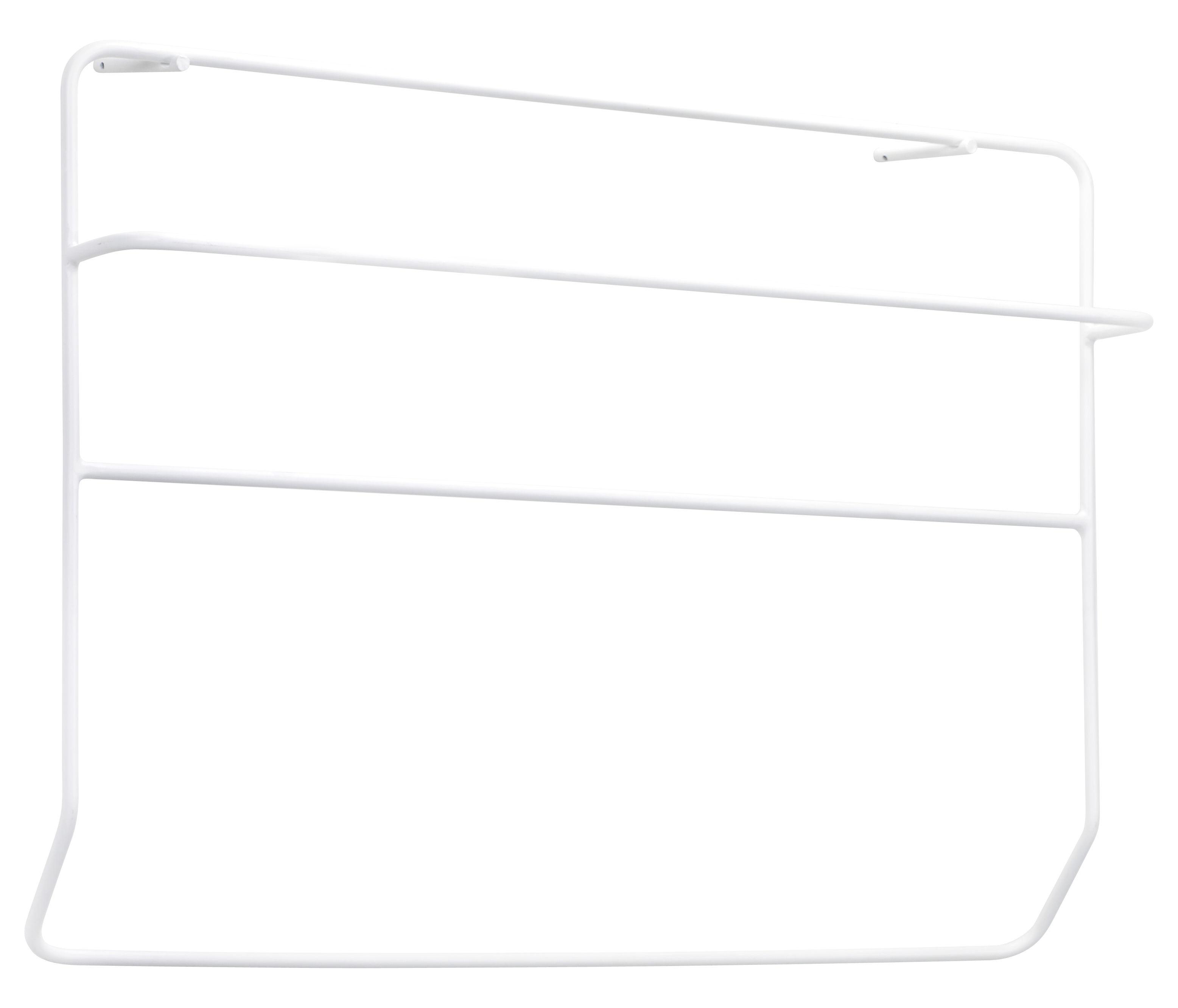 Arredamento - Appendiabiti  - Porta asciugamani Juno / A parete - Metallo - L 90 x H 60 cm - Serax - Bianco - metallo laccato