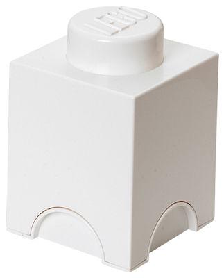 Interni - Per bambini - Scatola Lego® Brick - / 1 bottoncino di ROOM COPENHAGEN - Bianco - Polipropilene