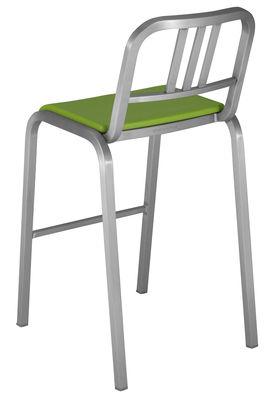 Arredamento - Sgabelli da bar  - Sedia da bar Nine-O - h 75 cm di Emeco - Alluminio opaco / Verde - Alluminio riciclato, Poliuretano