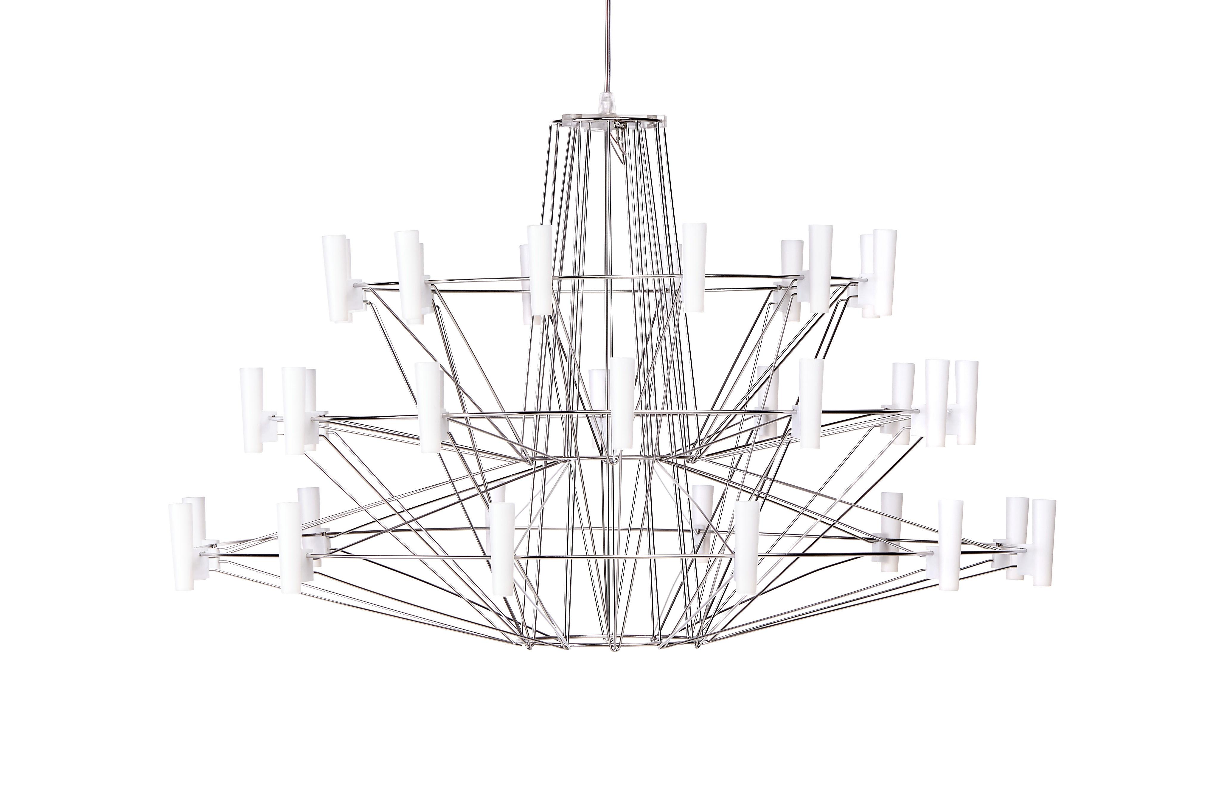 Illuminazione - Lampadari - Sospensione Coppélia - / LED - Ø 68 x H 42 cm di Moooi - Acciaio brillante - Acciaio inossidabile, policarbonato
