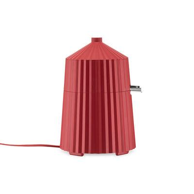 Cucina - Elettrodomestici - Spremiagrumi elettrico Plissé - / 80W di Alessi - Rosso - Acciaio inossidabile, Resina termoplastica