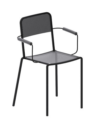 Furniture - Chairs - Ginger Stackable armchair - / Micaceous grey by Zeus - Micaceous grey - Epoxy painted steel