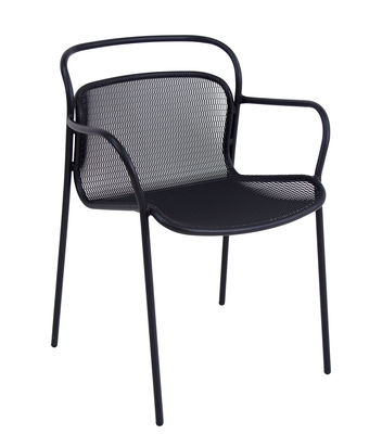 Furniture - Chairs - Modern Stackable armchair - / Metal by Emu - Black - Varnished steel