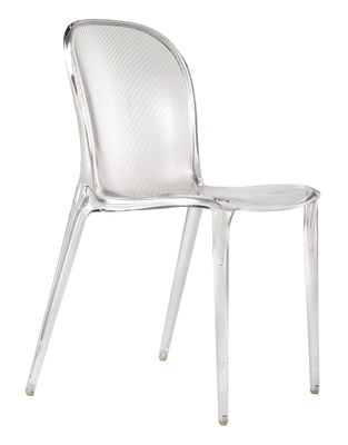 Furniture - Chairs - Thalya Stacking chair - transparent / Polycarbonate by Kartell - Crystal - Polycarbonate