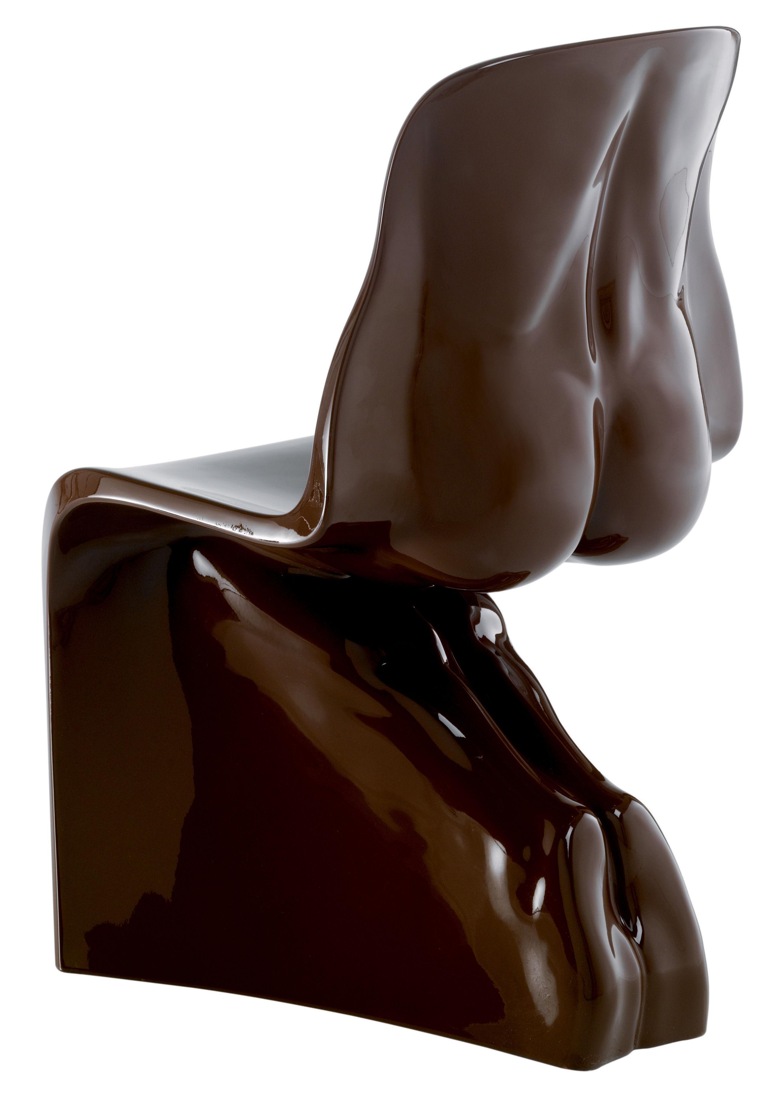 Möbel - Stühle  - Him Stuhl lackiert - Casamania - Braun - Polyäthylen