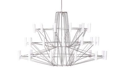Luminaire - Suspensions - Suspension Coppélia Small / LED - Ø 68 x H 42 cm - Moooi - Acier brillant - Acier inoxydable, Polycarbonate