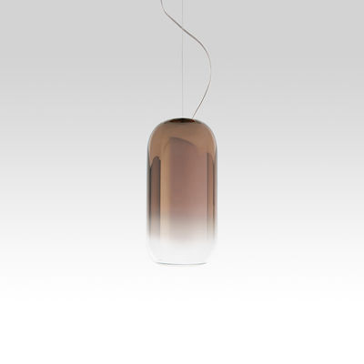Suspension Gople Mini / Verre - H 29 cm - Artemide bronze,transparent en verre