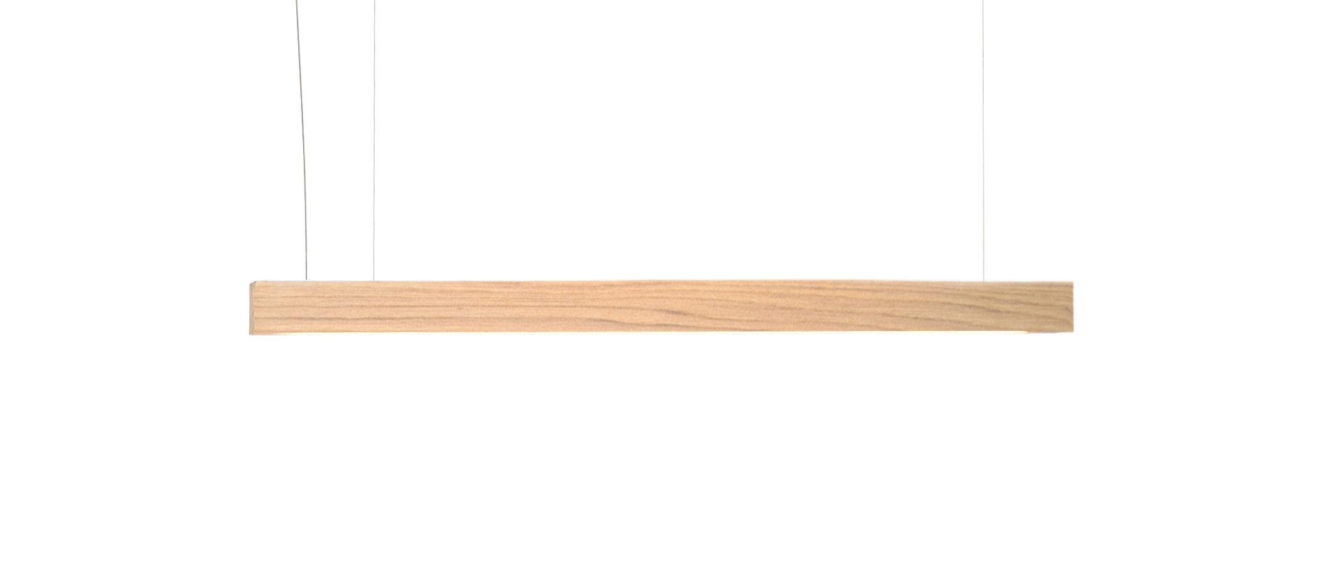 Luminaire - Suspensions - Suspension Led40 / L 70 cm - Chêne - Tunto - L 70 cm / Chêne - Chêne massif huilé, Polypropylène