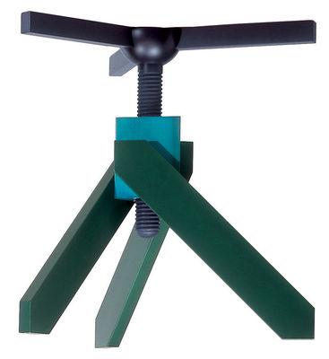 Table à hauteur réglable Vidun / Ø 130 cm - De Padova vert en verre/bois