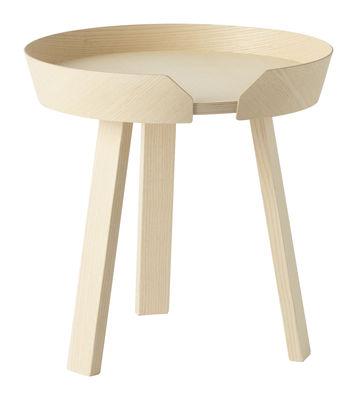 Table basse Around Small / Ø 45 x H 46 cm - Muuto bois naturel en bois