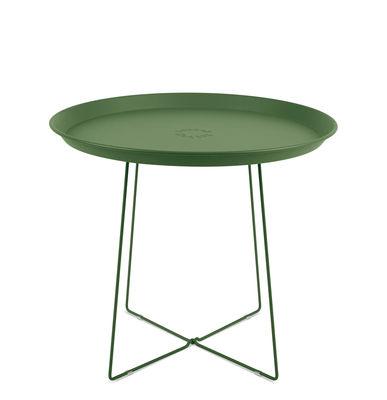 Table basse Plat-o / Plateau amovible - Ø 56 x H 46 cm - Fatboy vert industriel en métal