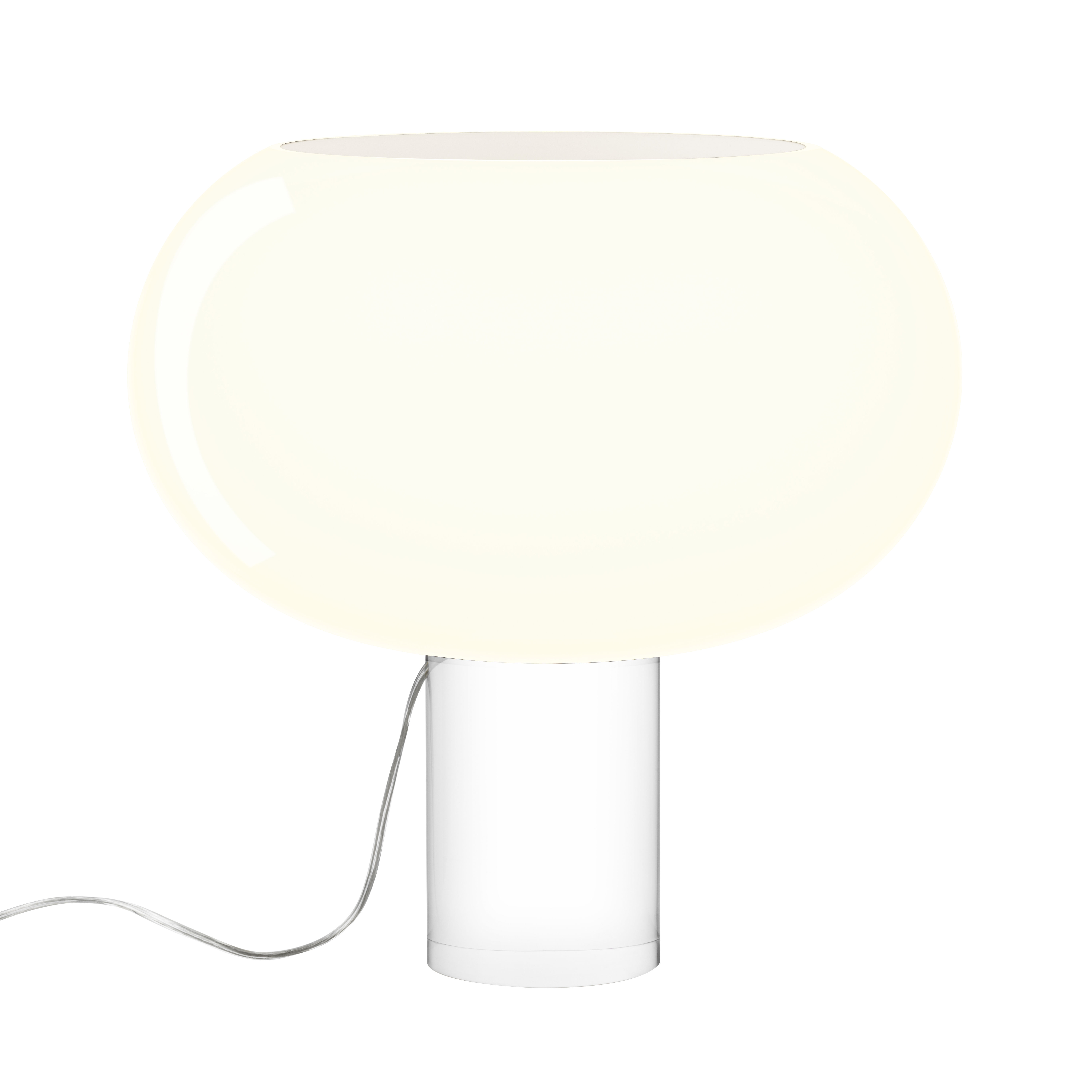 Lighting - Table Lamps - Buds 2 Table lamp - Artisanal glass / Ø 41 x H 42 cm by Foscarini - White / Transparent base - Blown glass, PMMA