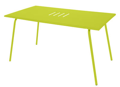 Table Monceau / 146 x 80 cm - 6 personnes - Fermob verveine en métal