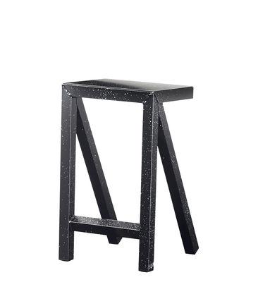 Tabouret haut Bureaurama / H 62 cm - Outdoor - Magis blanc,noir en métal