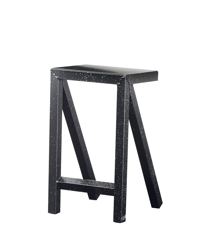 Mobilier - Tabourets de bar - Tabouret haut Bureaurama / H 62 cm - Outdoor - Magis - Noir & Blanc - Aluminium verni