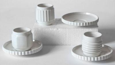 Tasse à espresso Machine Collection / Set de 3 + soucoupes - Diesel living with Seletti blanc en céramique