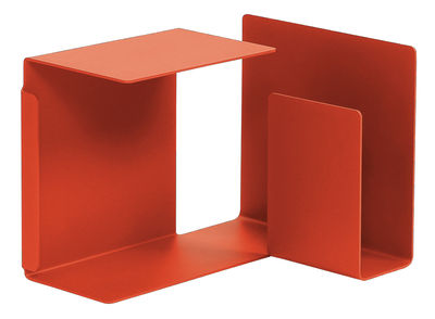 Image of Tavolino Diana C di ClassiCon - Rosso corallo - Metallo