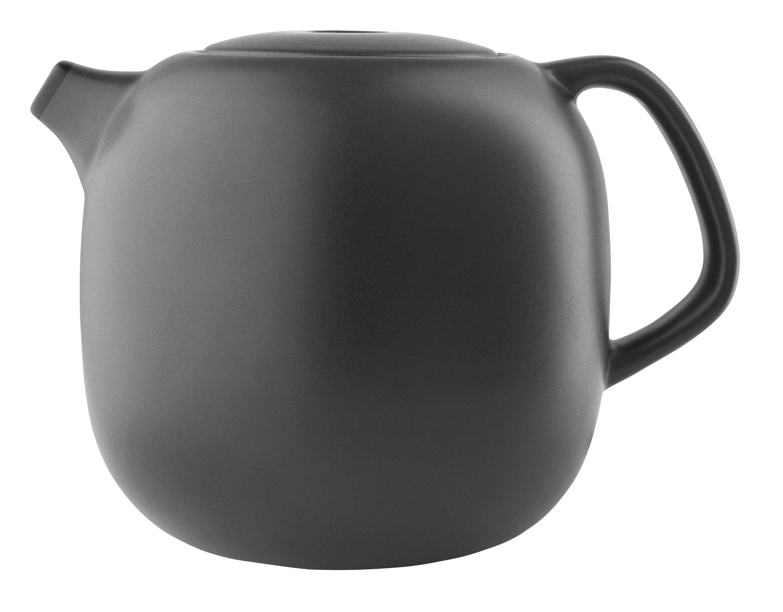 Küche - Teekannen und Wasserkessel - Nordic kitchen Teekanne / 1 l - Steinzeug - Eva Solo - Schwarzmatt - Sandstein