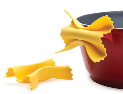 Küche - Küchenutensilien - Farfalloni Topflappen aus Silikon / 2er-Set - Pa Design - Gelb - Silicone souple