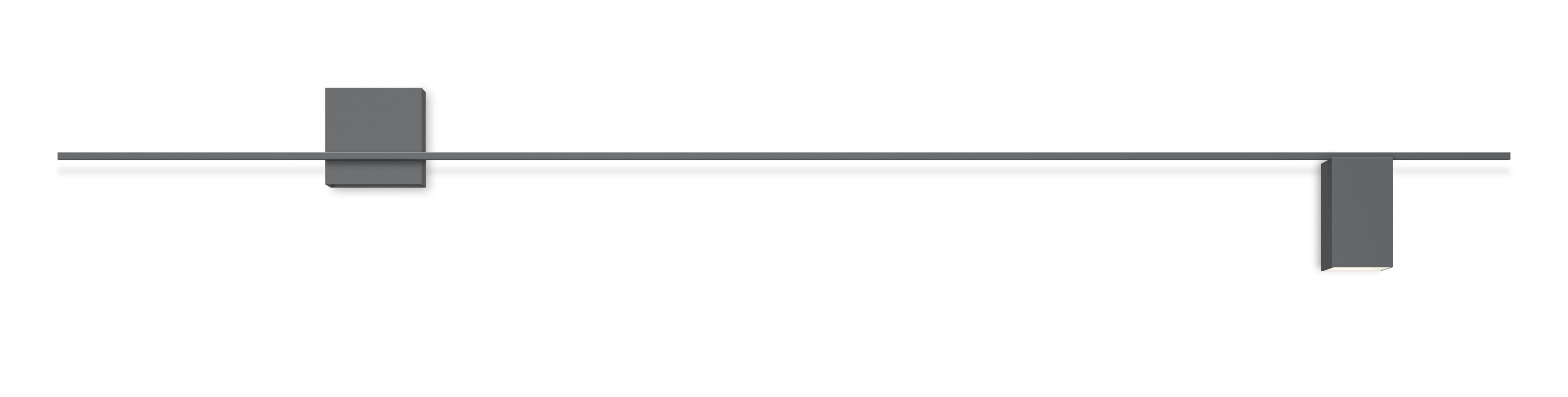 Lighting - Wall Lights - Structural LED Wall light - / L 240 cm by Vibia - Grey - Lacquered aluminium