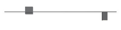 Structural LED Wandleuchte / L 240 cm - Vibia - Mattgrau