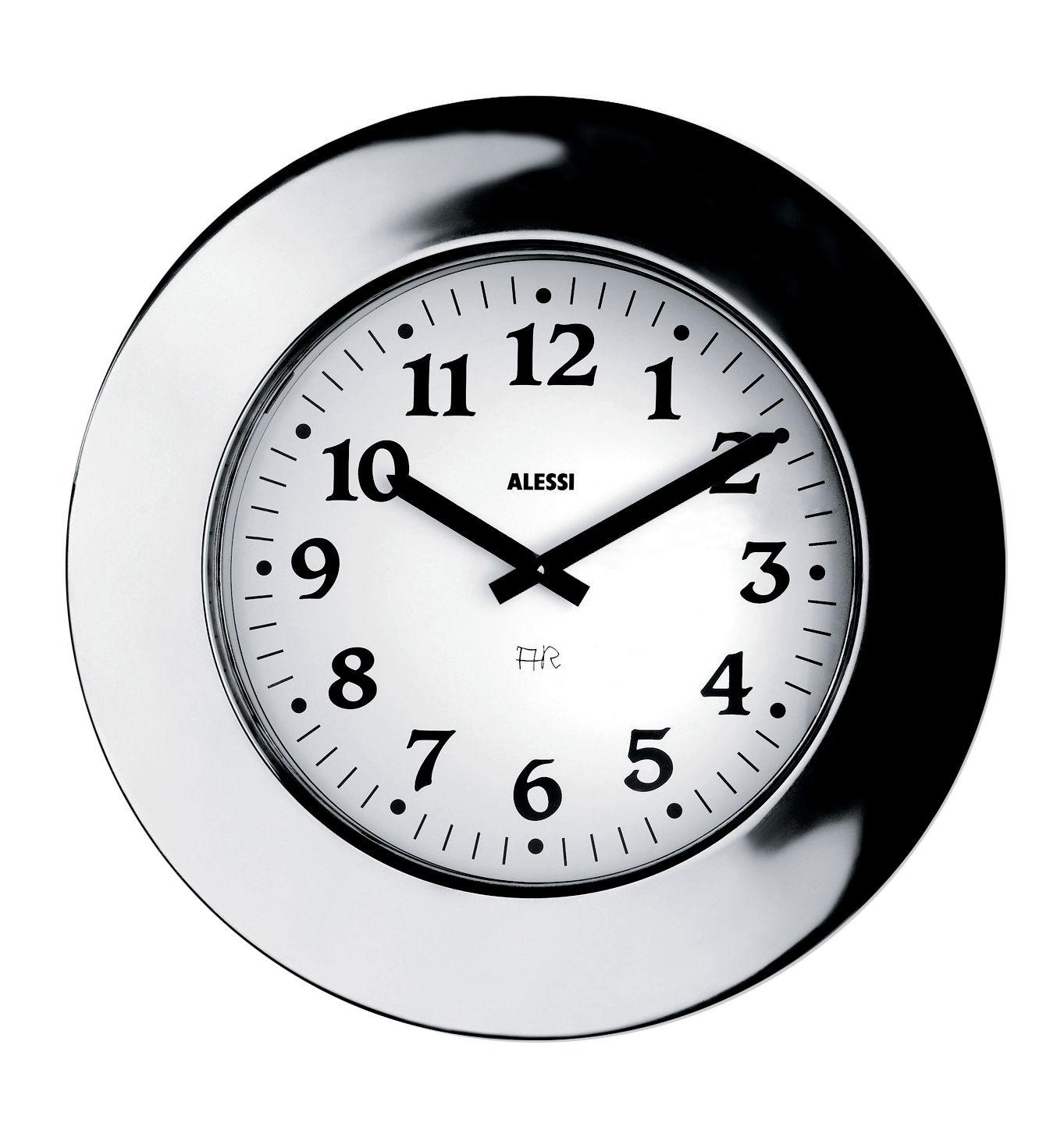 Dekoration - Uhren - Momento Wanduhr - Alessi - Stahl - rostfreier Stahl