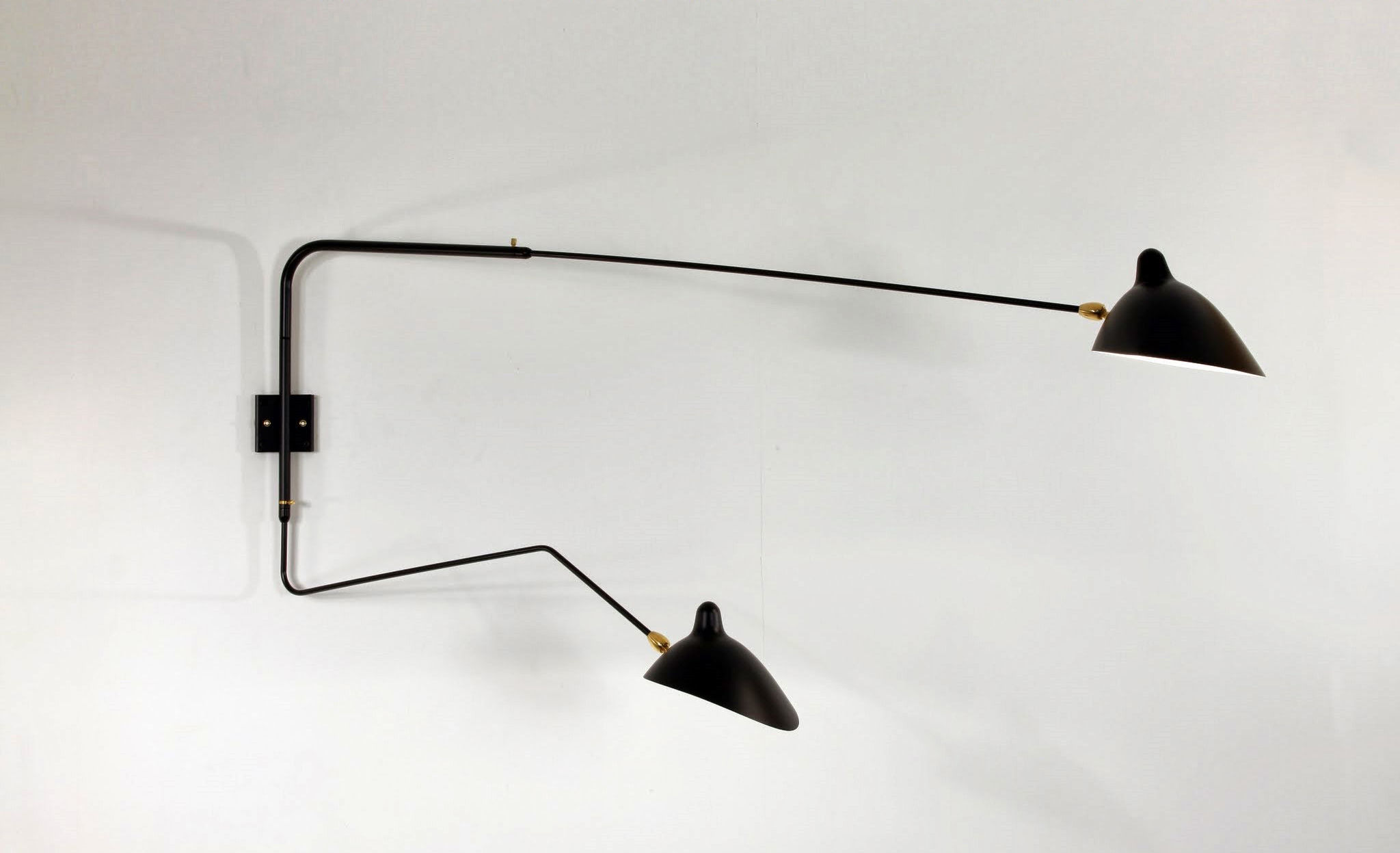 Applique bras serge mouille noir made in design