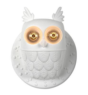 Illuminazione - Lampade da parete - Applique Ti-vedo - / Gufo ceramica - L 36 x H 40 cm di Karman - Bianco - Ceramica grezza