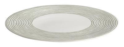Assiette Acquerello Ø 27 cm - A di Alessi blanc/vert en céramique