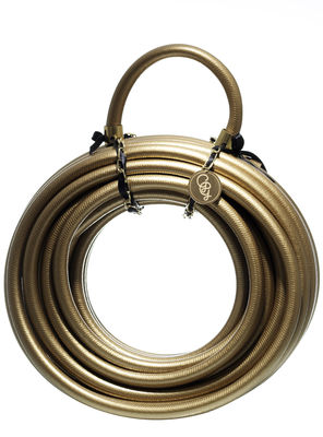 Outdoor - Töpfe und Pflanzen - Deluxe Gold digger Bewässerungsschlauch / 20 m - Garden Glory - Goldfarben - Metall, PVC