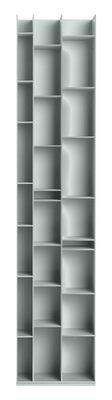Bibliothèque Random 3C / L 46 x H 217 cm - MDF Italia bleu clair en bois