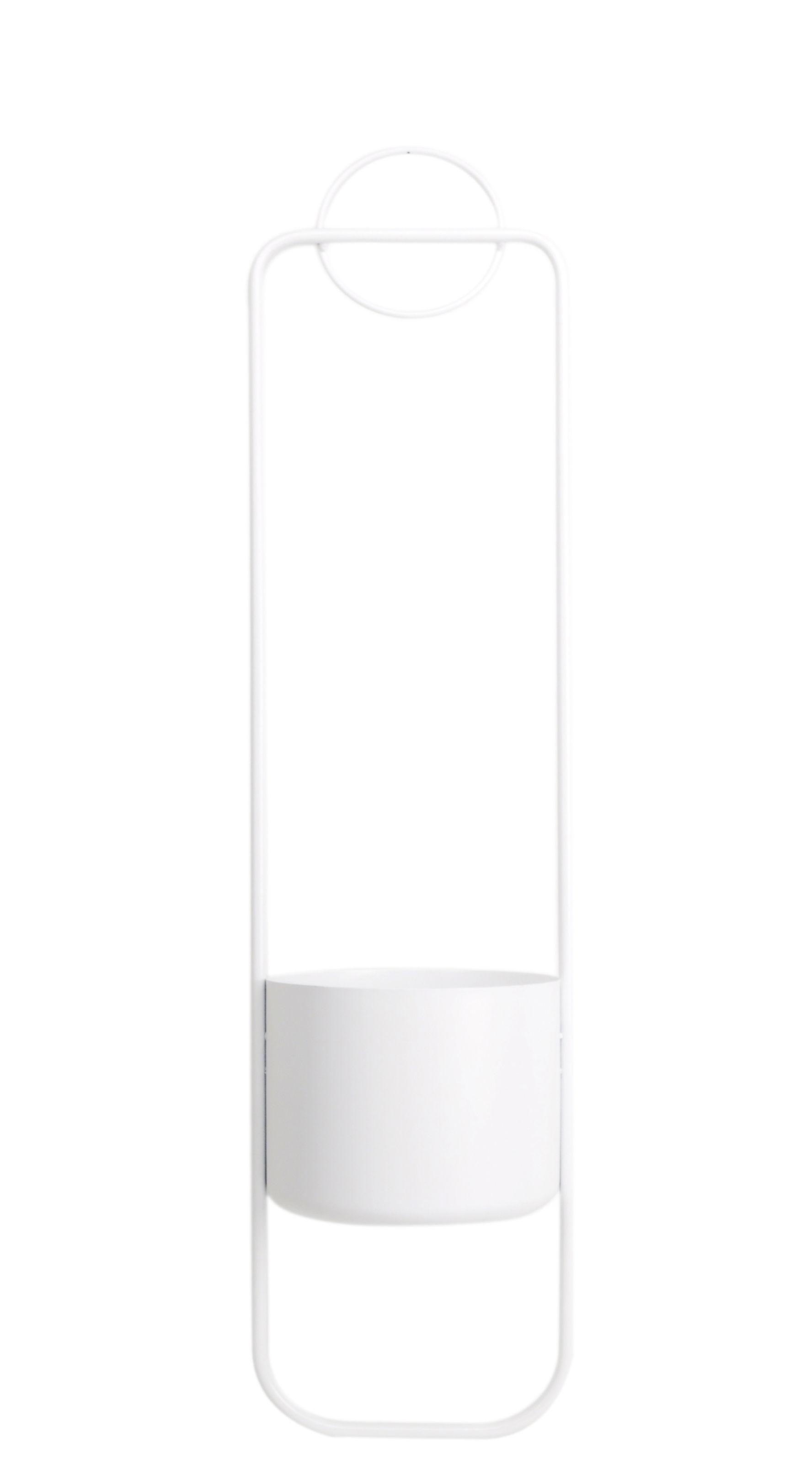 Outdoor - Töpfe und Pflanzen - Sonar Blumentopf zum Aufhängen / Metall - H 105 cm - XL Boom - Weiß - Acier laqué époxy